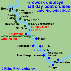 Rhine River Lights boat cruise with Golden wine autumn and Swimming Federweisser vintage festival on board